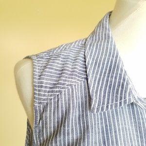 9e5cf39d430 Zara Dresses - Zara Striped Linen Sleeveless Shirt Dress size XL